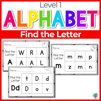 Uppercase and Lowercase Letter Recognition Set 1 | Letter Activities
