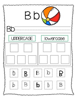 Upper and Lower case Letter Sort Packet