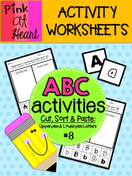 ABC Activities 8: Cut, Sort and Paste - Uppercase and Lowercase Letters