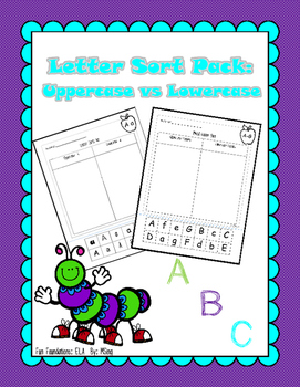 Uppercase and Lowercase Letter Sorts