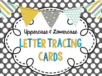 Uppercase and Lowercase Letter Tracing Cards BUNDLE