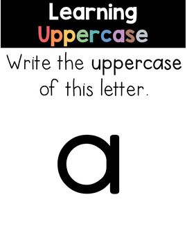 Uppercase and Lowercase Letters (Learn to Write) PowerPoint