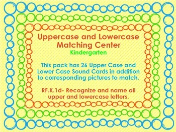 Uppercase and Lowercase Matching Center RF.K.1d
