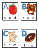 Uppercase and Lowercase Photo Match Clip Cards