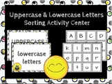 Uppercase and Lowercase Sorting Activity Center.