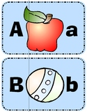 Uppercase and Lowercase - Three Piece Letter Puzzles - A to Z