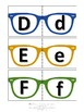 Uppercase and lowercase alphabet in sunglasses