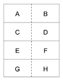 Uppercase letter flashcards