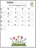 lowercase letters of the alphabet writing worksheet- Sprin