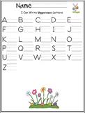 Uppercase letters of the alphabet writing worksheet- Sprin