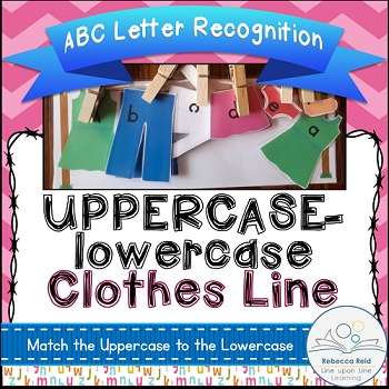ABC Matching Game Clothes Line Uppercase to lowercase Alphabet Recognition