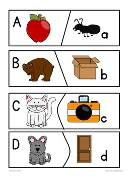 ABC Puzzle Cards Uppercase to lowercase Alphabet Recognition