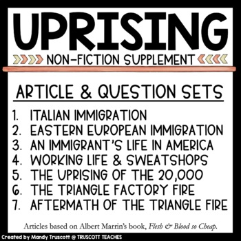 Uprising by Margaret Peterson Haddix: Supplemental Historical Readings/Questions