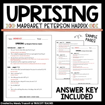 """""""Uprising,"""" by Margaret Peterson Haddix Vocabulary and Questions"""