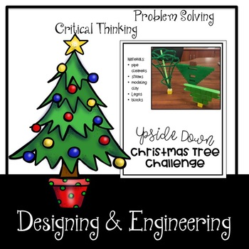 Upside Down Christmas Tree STEM Challenge