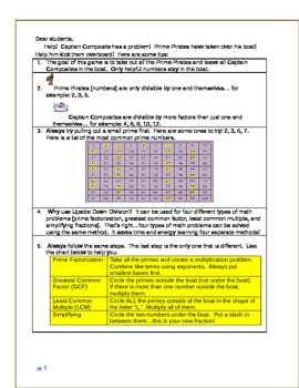 Upside Down Division Packet and Quiz