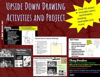 Upside Down Drawing Activities & Project Lesson