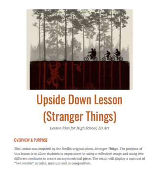 Upside Down Lesson Plan (Stranger Things)