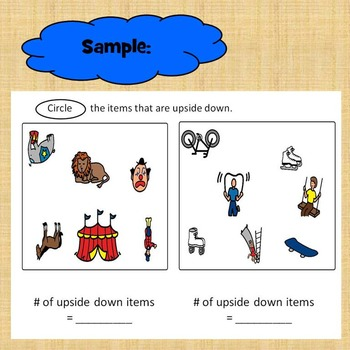 Upside Down Preposition Worksheet for Special Education