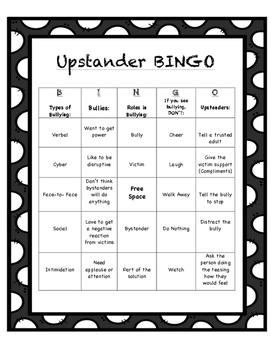 Upstander Bingo