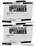 Upstander Pledge Cards for Anti-Bullying Lunchtime Activity