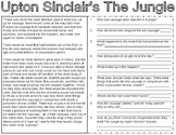 Upton Sinclair's The Jungle Document & Political Cartoon Analysis