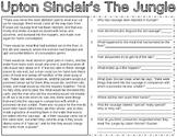 Upton Sinclair's The Jungle Document & Political Cartoon Analysis