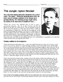 "Upton Sinclair's ""The Jungle"" Reading Activity"