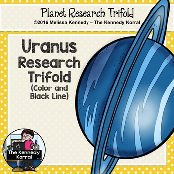 Uranus Research Trifold {Space Research, Planets, Solar System}