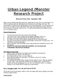 Urban Legends Research Project