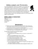 Urban Legends and Ecosystems Project