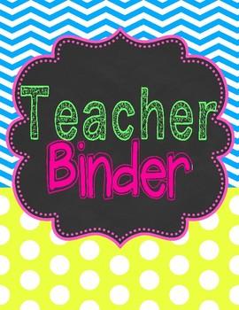 Urban Neon Teacher Binder
