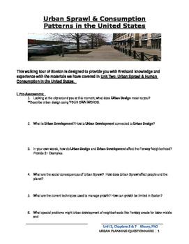 Urban Planning Field trip to Fenway, Boston, MA