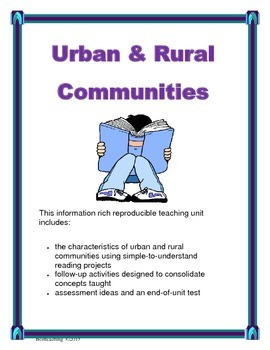 Urban & Rural Communities Canadian Social Studies