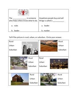 Urban, Rural, Suburban Quiz