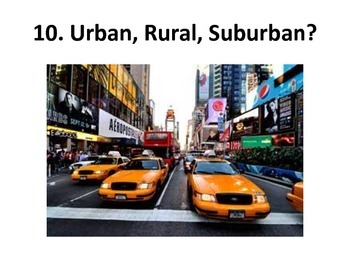 Urban, Rural, & Suburban Slideshow