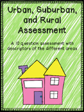 Urban, Suburban, Rural Assessment