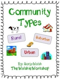 Urban, Suburban, & Rural Communities Activities - Grades 2,3 &4