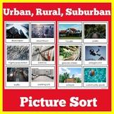 Urban Suburban Rural Sort Activity