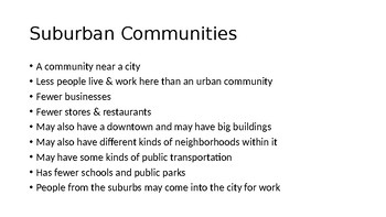 Urban Suburban Rural PowerPoint Presentation Primary