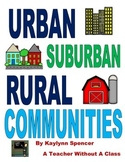Urban, Suburban and Rural Communities