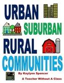 Urban, Suburban and Rural Communities