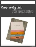 Urban, Suburban, and Rural Community Flip Book