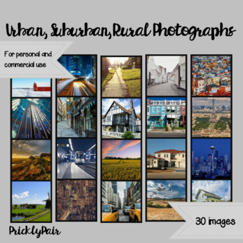 Urban, Suburban, and Rural Photo Backgrounds
