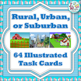 Rural, Urban, Suburban Task Cards - A Community Unit Suppliment