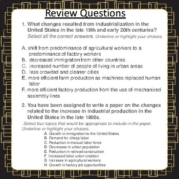 Urban Transformation Notes & Review Questions