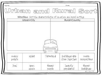 Urban and Rural Sort