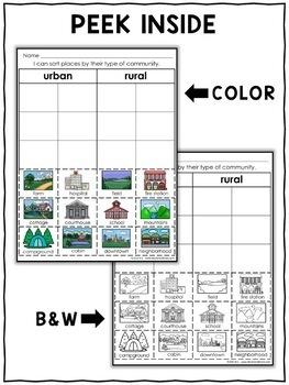 Interactive Sorting - Rural Community Activity
