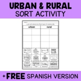 Rural and Urban Communities Sort Activity