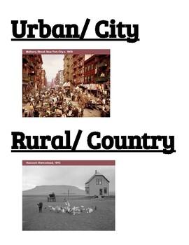 Urban vs Rural Cut and Paste